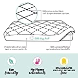 Soft, Waterproof Portable Crib Mattress Protector for Pack n Play & Play Yards