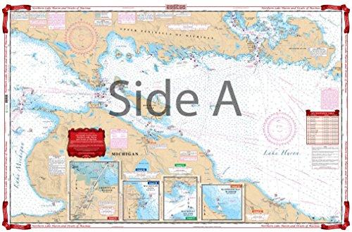 Waterproof Charts, Standard Navigation, 75 North Lake Huron and Straits of Mackinac