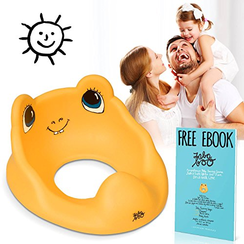 Premium Potty Training Seat, Stickers and eBook, Great Adapter for Round Toilets (How Do You Become A Disney Princess)