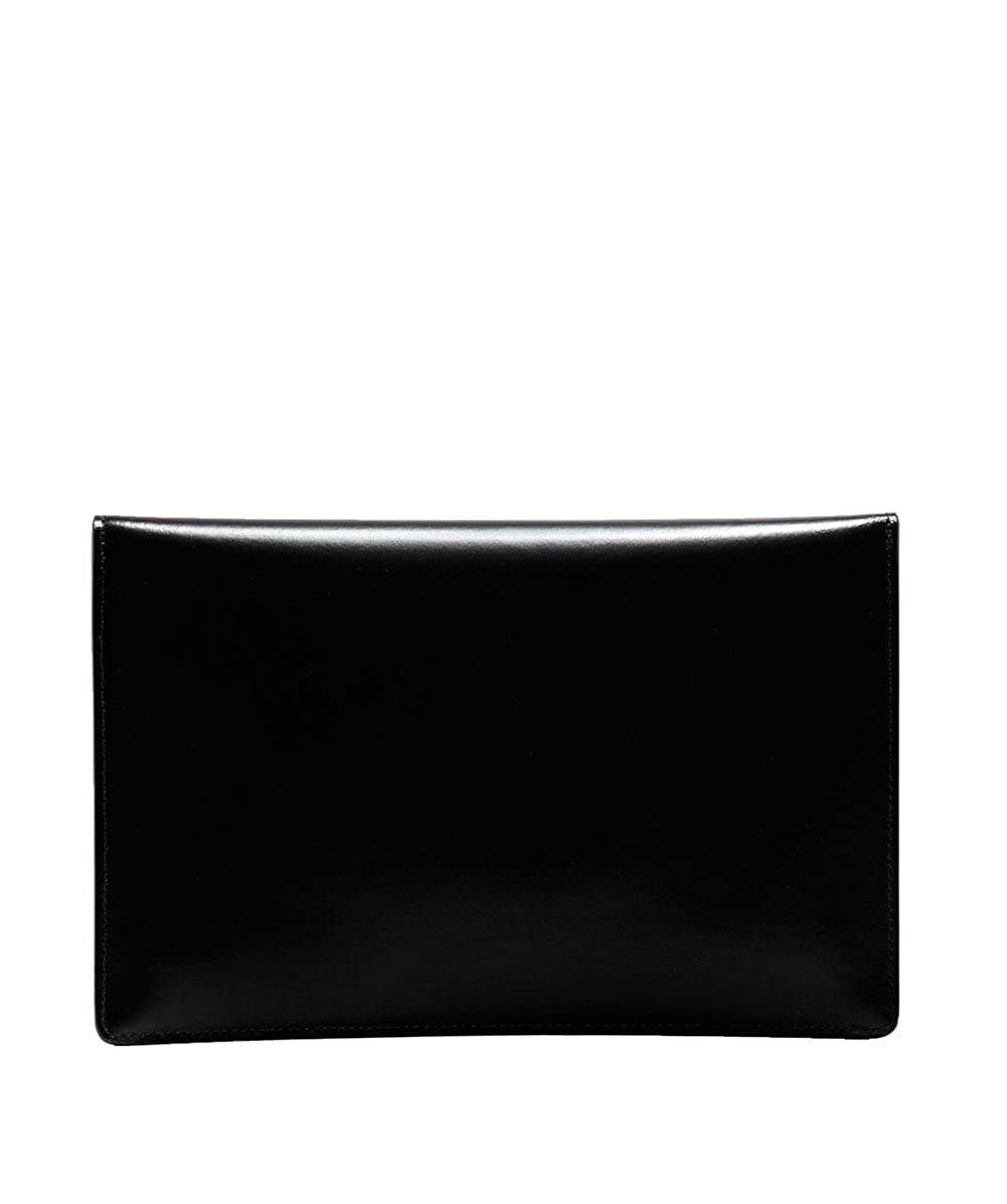 fa45fb238a75 Vivienne Westwood Private Black Smooth Leather Envelope Pouch Black  Leather  Amazon.co.uk  Shoes   Bags