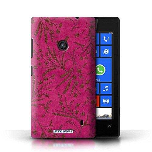 Etui pour Nokia Lumia 520 / Rose/Orange conception / Collection de Motif floral blé