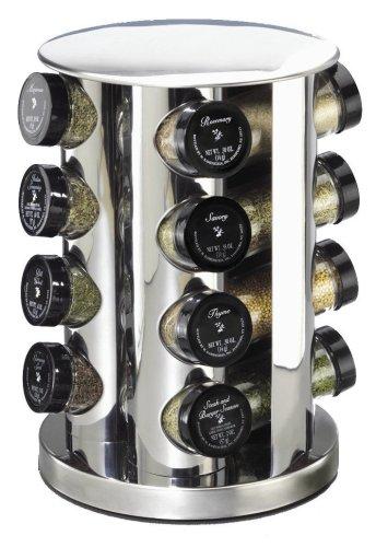 Kamenstein 16-Jar Stainless-Steel Spice Tower