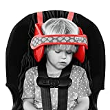 NapUp Child Head Support for Car Seat (Light Red)