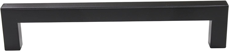 Probrico 12mm*12m Noir Carr/é B/âton Acier Inoxydable Cuisine Armoire Porte Poign/ées Placard Tiroir Chambre Meubles Entraxe de trous 160mm PDDJS12HBK160