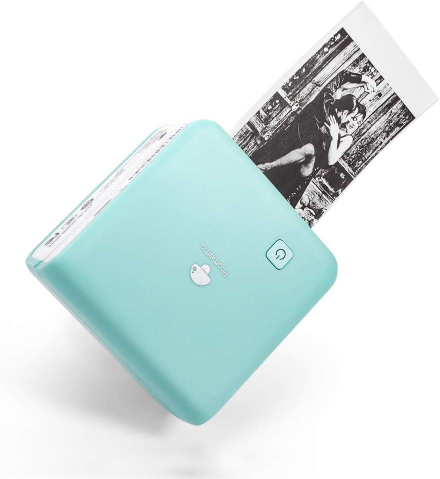 Memoking T02 Impresora T/érmica de Bolsillo Rosa Port/átil Compacta Blanco y Negro para Notas de Estudio de Regalo Inal/ámbrica Compatible con iOS y Android Bluetooth