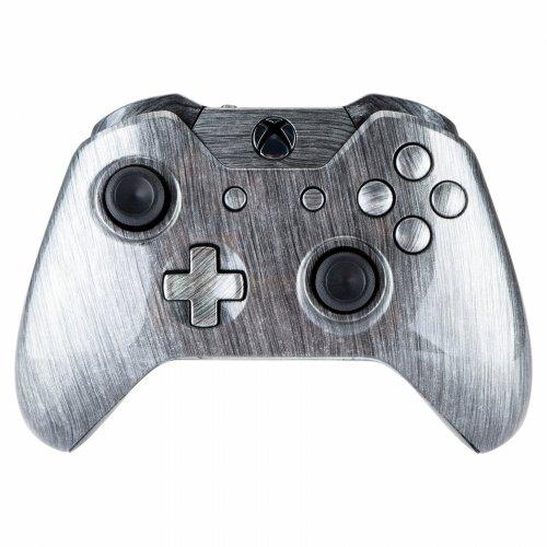 Mod-Freakz-Xbox-One-Controller-ShellButtons-Hydro-Dipped-Metallic-Silver-Has-35mm-Port-Not-a-controller-For-2nd-Gen-Controller