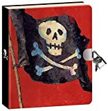 "Peaceable Kingdom Pirates 6.25"" Lock and Key, Lined Page Diary for Kids"