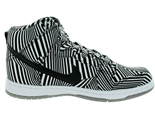 Nike Mens Dunk High Premium Sb Bianco / Nero Scarpa Da Skate 13 Uomini Us