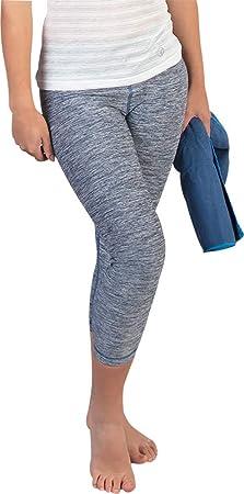 Grey OgiYogi Reversible 3//4 Capri Womens Training Tights