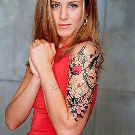 tzxdbh Etiqueta engomada del Tatuaje a Prueba de Agua rugiente ...