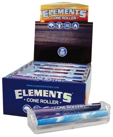 Elements Ultra Thin Rice Rolling Paper Machine - King Size Cone Roller (12 Pack Display Box) by Elements