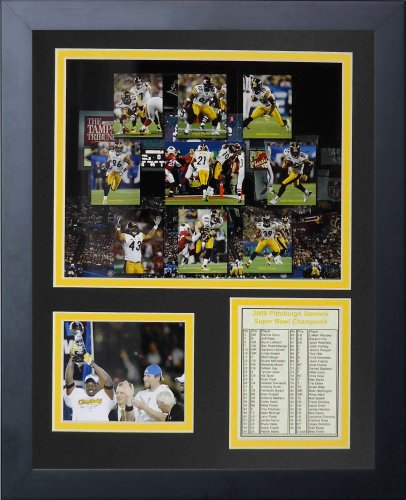 Framed Steelers Photo Pittsburgh (Legends Never Die 2008 Pittsburgh Steelers Framed Photo Collage, 11x14-Inch)