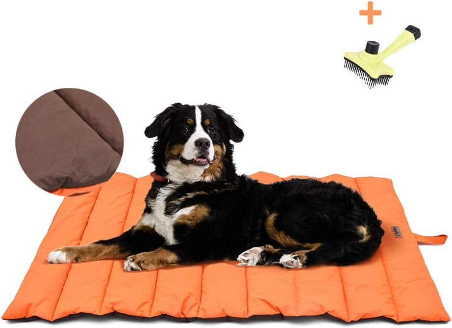 XIAPIA Cama Perro Impermeable Colchoneta,Almohada Relajante Perro Colchón Perros Viscoelastica Cojines Lavable Impermeable para Perros Medianos,Grande