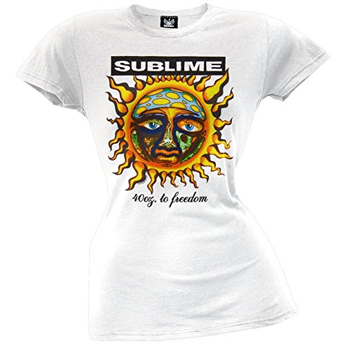 Sublime - Womens 40 Oz To Juniors T-shirt Large White