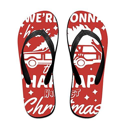 QR FUNK Unisex Happiest Christmas Car Jeep Summer Comfortable Flip Flops Beach - Sale Havianna