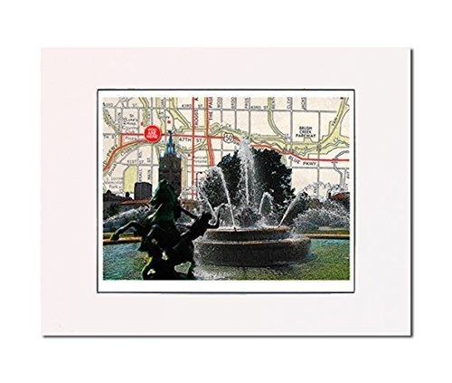 Amazon.com: Kansas City, J.C. Nichols Fountain, art print. Enhance ...