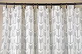Fabric Shower Curtain - ARROW Cool GRAY - 72'' Width x (72'', 74'', 78'', 84'', 90'', 96'') Length