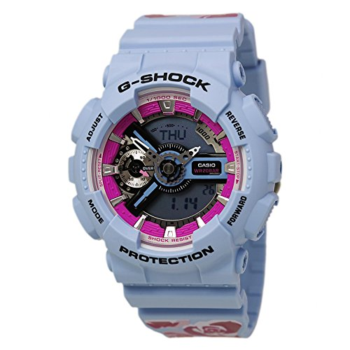 Casio G-Shock S Series Floral Patterns Quartz Woman's Watch GMAS110F-2A