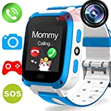 Kids Phone Smart Watch - Kids Smartwatch for Boys Girls Included 9 Game Touch Screen Camera SOS Bracelet Learning Toys Sport Outdoor Digital Wrist Cellphone Watch Bracelet for Summer Holiday Gift