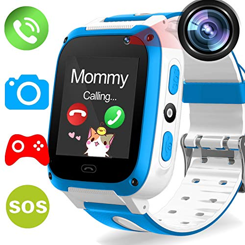 Kids Phone Smart Watch - Kids Smartwatch for Boys Girls Included 9 Game Touch Screen Camera SOS Bracelet Learning Toys Sport Outdoor Digital Wrist Cellphone Watch Bracelet for Summer Holiday Gift by MarMoon