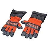 Elvex CSGLV-LG Prolar Chainsaw Gloves - Large, Orange/Black