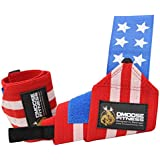 Wrist Wraps by DMoose Fitness – Premium Quality, Strong Velcro, Thumb Loops – Maximize Your Weightlifting, Powerlifting, Bodybuilding, Strength Training & CrossFit