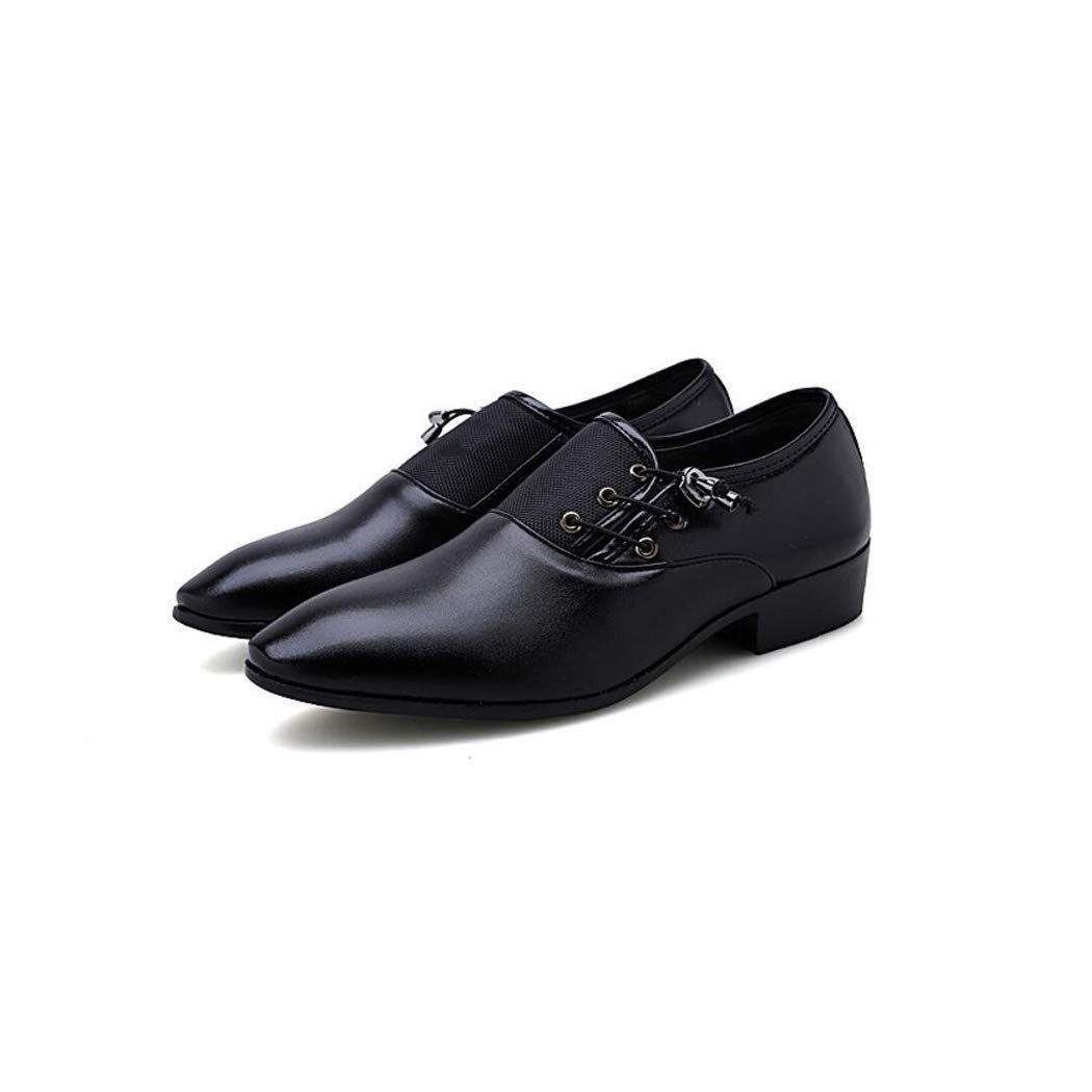 Lederschuhe Herren Lackleder Kleid Schuhe Lace up Spitz Oxfords Business Kleid Schuhe Klassische Plain Toe