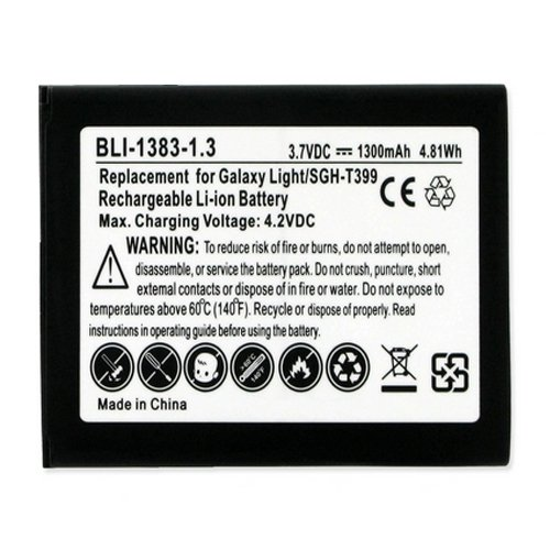 BLI-1383-1.3 Li-Ion Battery - Rechargable Ultra High Capacity (Li-Ion 3.7V 1300 mAh) - Replacement for Samsung B105BE Cellphone Battery