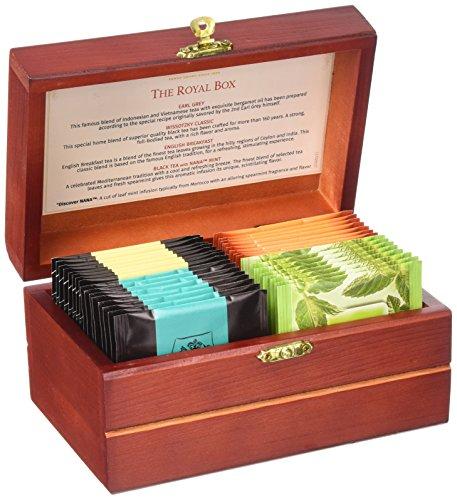 Wissotzky Tea Royal Tea Chest / 4 Assorted Flavours / 32 Tea Bags