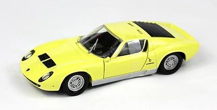 Amazon Com Lamborghini Miura P400 S 1 24 Yellow Toys Games
