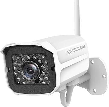 Cámara De Seguridad Al Aire Libre 1080p Wifi Cámaras De Vigilancia Inalámbricas Cámara Ip Con Audio Bidireccional Ip66 Impermeable Visión Nocturna Detección De Movimiento Alerta De Actividad Alarma Disuasoria Ios