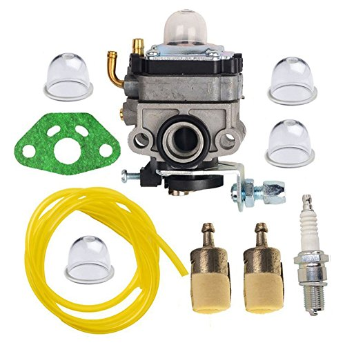 HIFROM Carburetor Carb Kit with Gasket Primer Blub Fuel Line Fuel Filter for Honda GX25 GX25N GX25NT Replaces 16100-Z0H-825