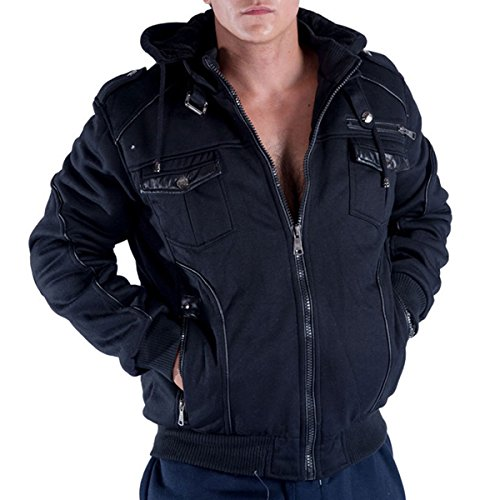 Eurogarment Mens Heavy Sherpa Lined Fleece Hoodie For Men