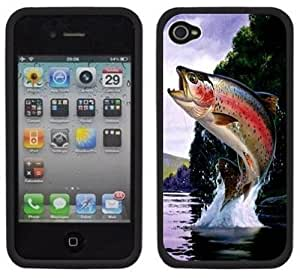 meilz aiaiRainbow Trout Fishing Handmade iPhone 4 4S Black Hard Plastic Casemeilz aiai