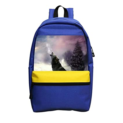 c1515466616b Amazon.com: Kids Wolf and Moon Lightweight School Bags Backpack for ...