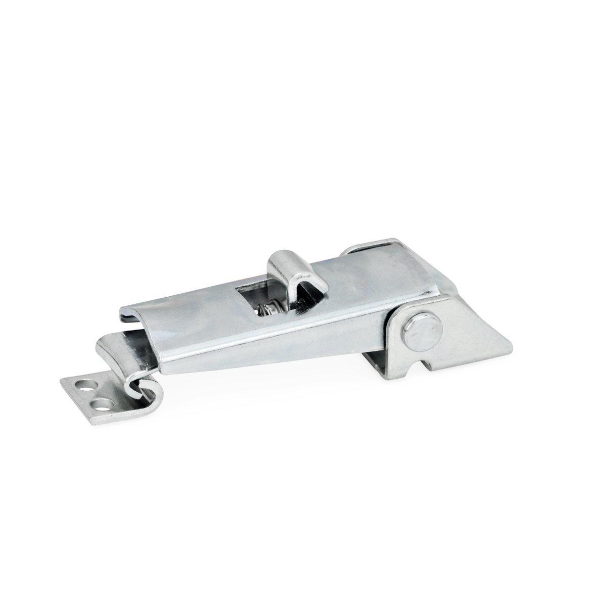 Ganter Normelemente | Spannverschlü sse -  GN 831-100-S-ST-1 | Mit Sicherung | Stahl | verzinkt, blau passiviert | 1 Stü ck
