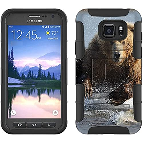 Samsung Galaxy S7 Active Armor Hybrid Case Grizzly Bear 2 Piece Case with Holster for Samsung Galaxy S7 Active Sales