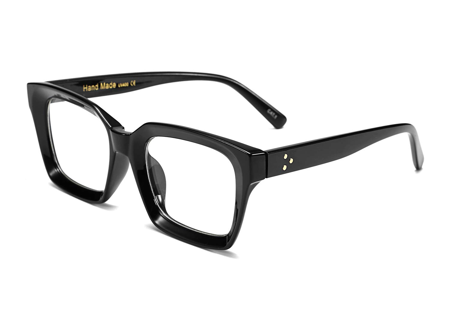 FEISEDY Classic Oprah Square Eyewear Non-prescription Thick Glasses Frame for Women B2461 by FEISEDY