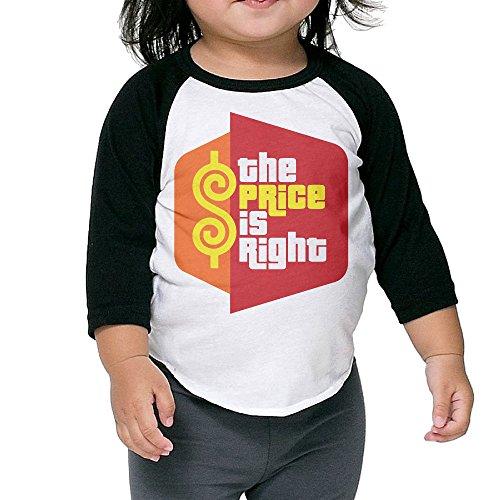 The Price Is Right Game Show Kids 3/4 Sleeve Raglan Baseball Tee Shirt 2-6 Toddler (New Latex Looks 5)