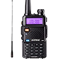 BaoFeng UV-5R Walkie Talkies with One More Extendable NA-771R Antenna Dual Band Two Way Radio with Telescopic Antenna