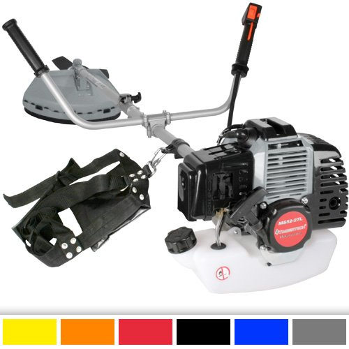 TIMBERTECH - Desbrozadora de 52ccm (Potencia del Motor 2,2 Kw) con Cubierta de protección – Color Gris
