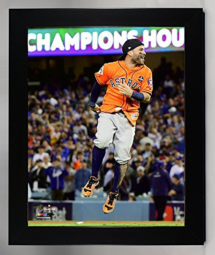 Framed The Houston Astros Jose Altuve Celebrates 2017 World Series Victory. 8x10 Photograph Picture.