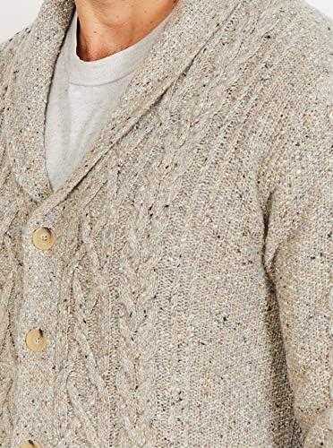 misto lana Aran Cardigan Donegal con collo scialle da uomo Jack Stuart