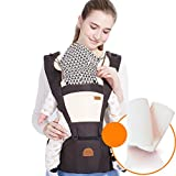 Light Weight Baby Toddler Hip Seat Carrier Baby Waist Seat (5 Colors Available) (Color : Dark Brown)
