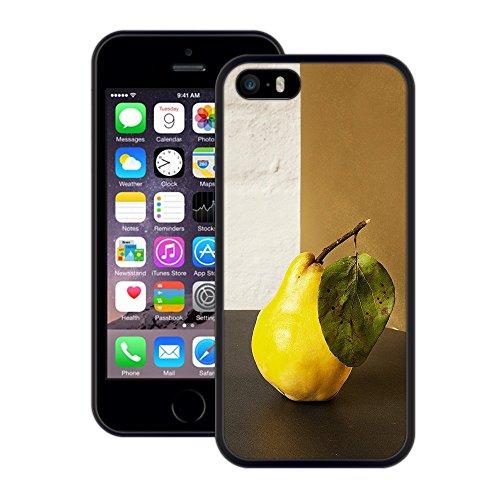Birne | Handgefertigt | iPhone 5 5s SE | Schwarze Hülle