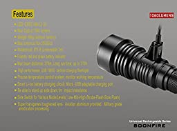 Tactical Flashlight:1060 Lumens with An Effective Range of 376 Meters,USB Rechargeable Waterproof High Power Flashlight,3400mAh 18650 Batteries,charging cable and Holster -Soonfire VS37