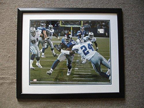 Tiki Barber Signed Photo - #21 & Framed - 22 5 x 26 5 - Steiner COA - Autographed NFL Photos