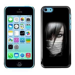 TopCaseStore / la caja del caucho duro de la cubierta de protección de la piel - Sexy Ninja Girl - Apple iPhone 5C