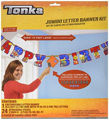 Amscan Tonka Jumbo Add-An-Age Letter Banner