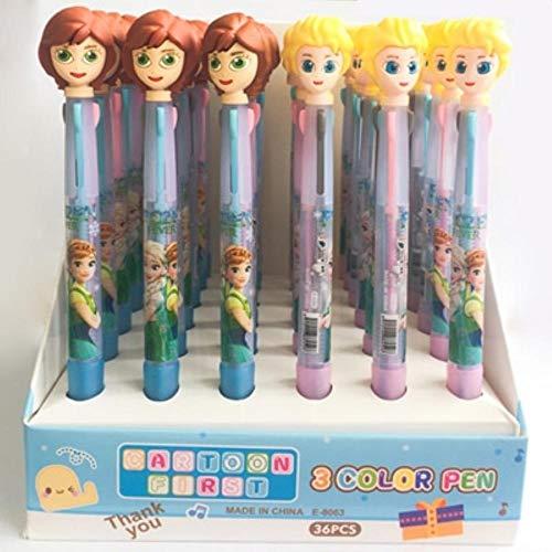 - Ballpoint Pens - 2 Pcs Cartoon 3 In 1 Ballpoint Pen Drawing Pen Office Supply Student Stationery (2pcs Princess)